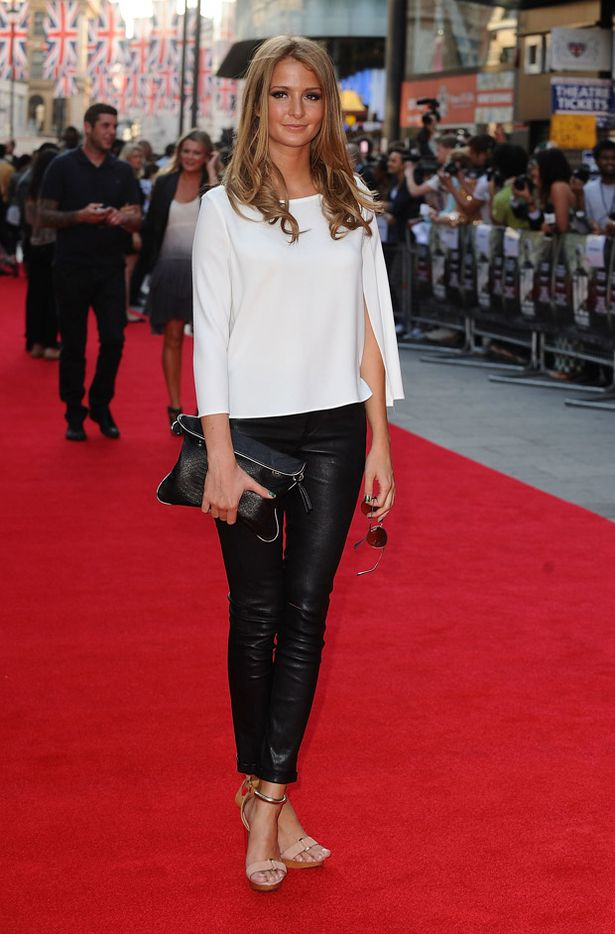 Millie Mackintosh in Muubaa Lorenzo Leather Jeans