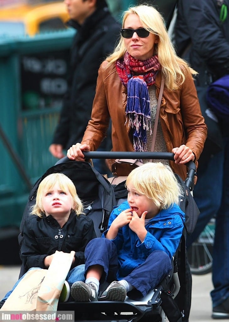 Naomi Watts in Muubaa Inaya Leather Biker Jacket