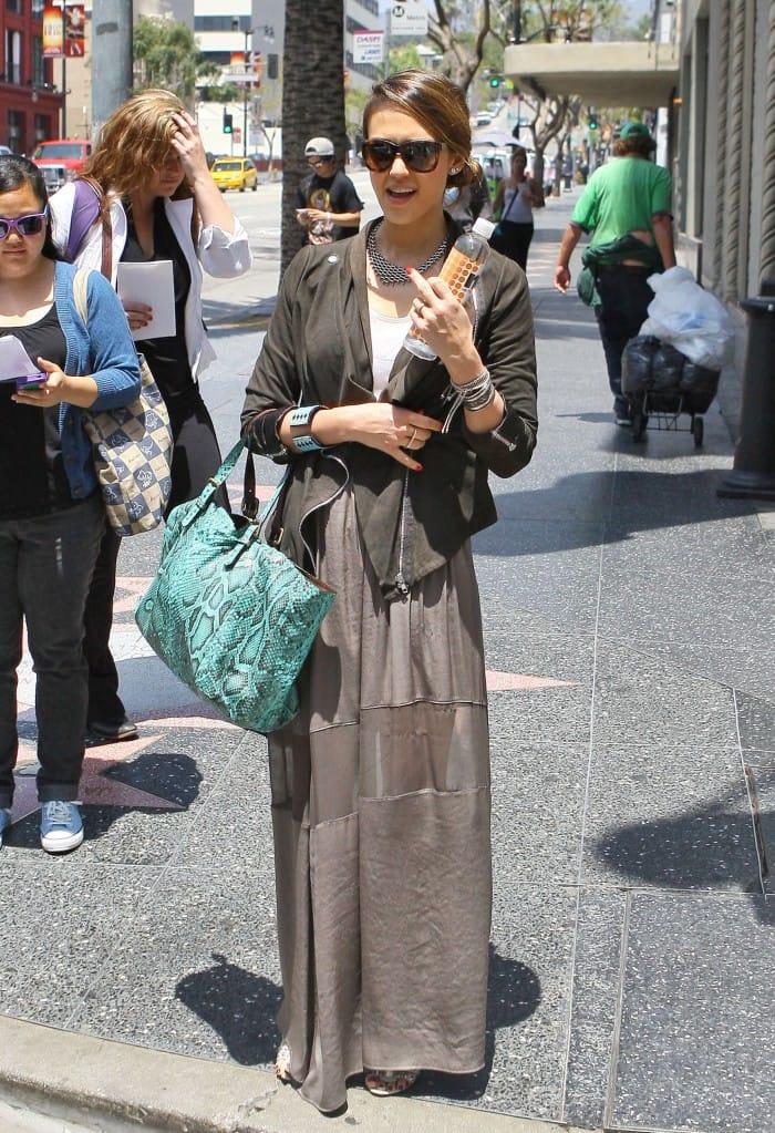 Jessica Alba wears Muubaa