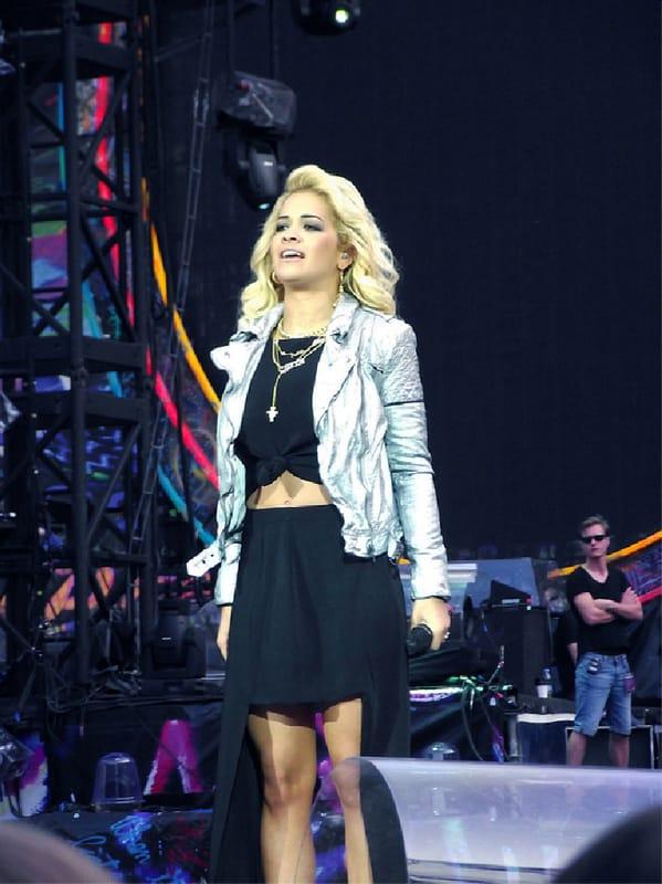 Rita Ora wearing Muubaa