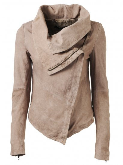 Muubaa Thaxter Suede Jacket in Light Mink