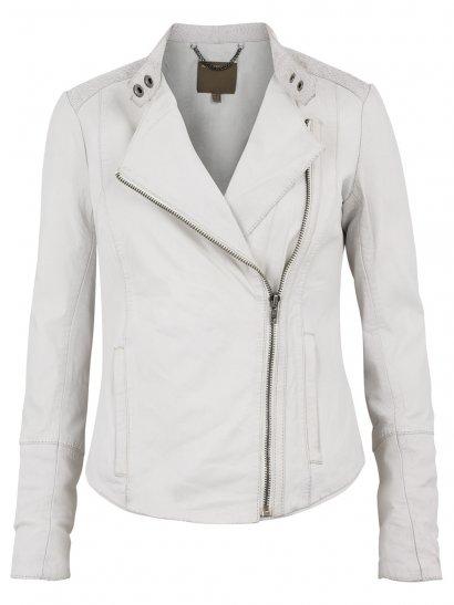Muubaa Syrma Leather-Salmon Biker Jacket in Polo