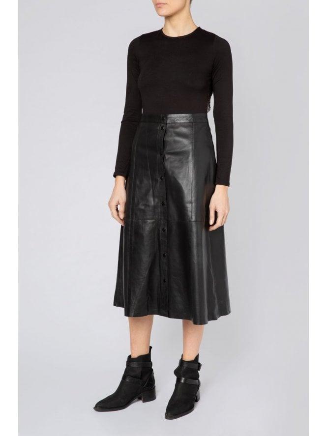 A-Line Midi Popper Skirt
