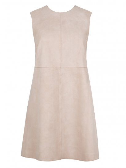 Anstey Pink Suede Mini Shift Dress