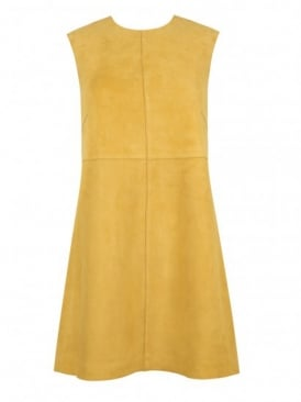 Anstey Saffron Suede Mini Shift Dress