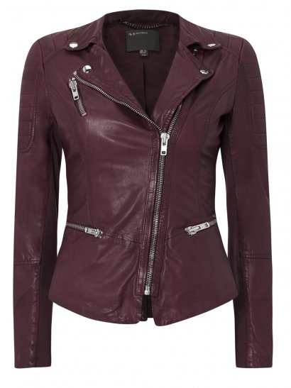 Anyang Red Leather Biker