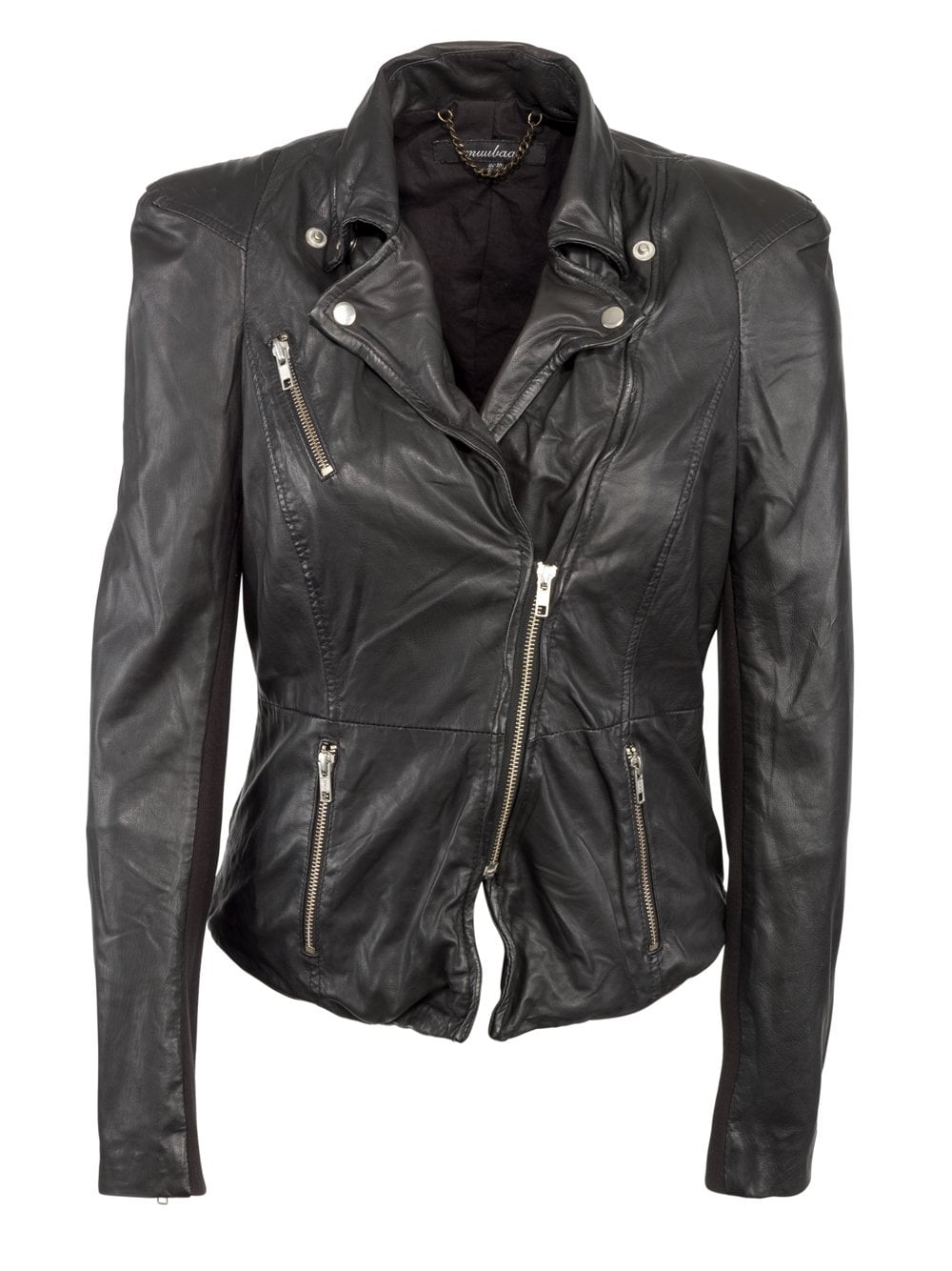 47e9b51a6 Cion 2012 Fitted Leather Biker Jacket in Black