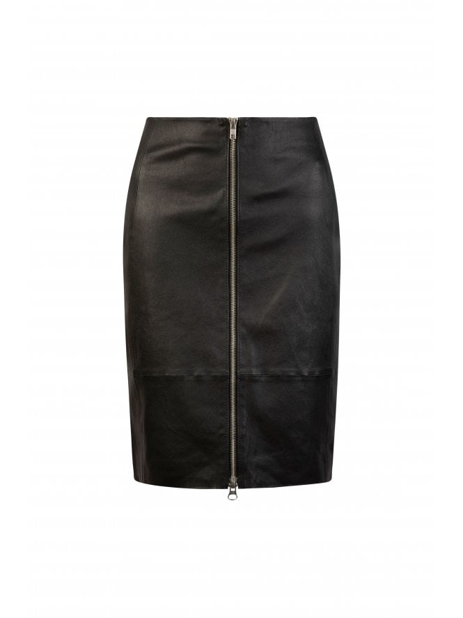 Clara Zip Front Pencil Skirt