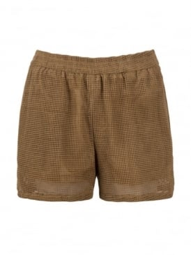 Compton Tawny Suede Perforated Shorts