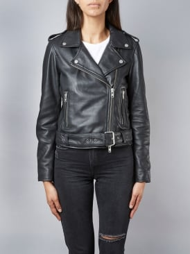 Cordilleran Black Biker Leather Jacket