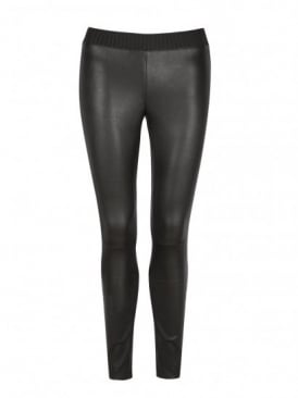 Cowley Stretch Black Leather Leggings