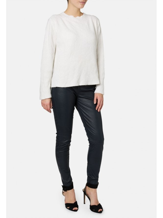 Cowley Stretch Midnight Leather Leggings
