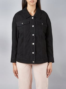 Dunlin Oversized Black Denim Style Jacket