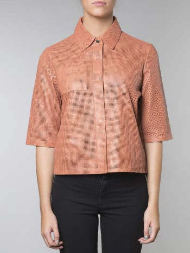 Fanca Cropped Perforated Shirt