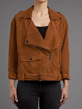 Fleetwood Tan Suede Biker Jacket