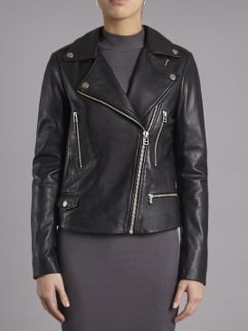 Granger Black Leather Biker Jacket