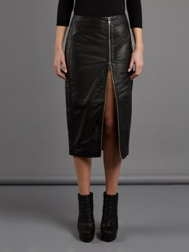 Jowett Black Leather Pencil Skirt