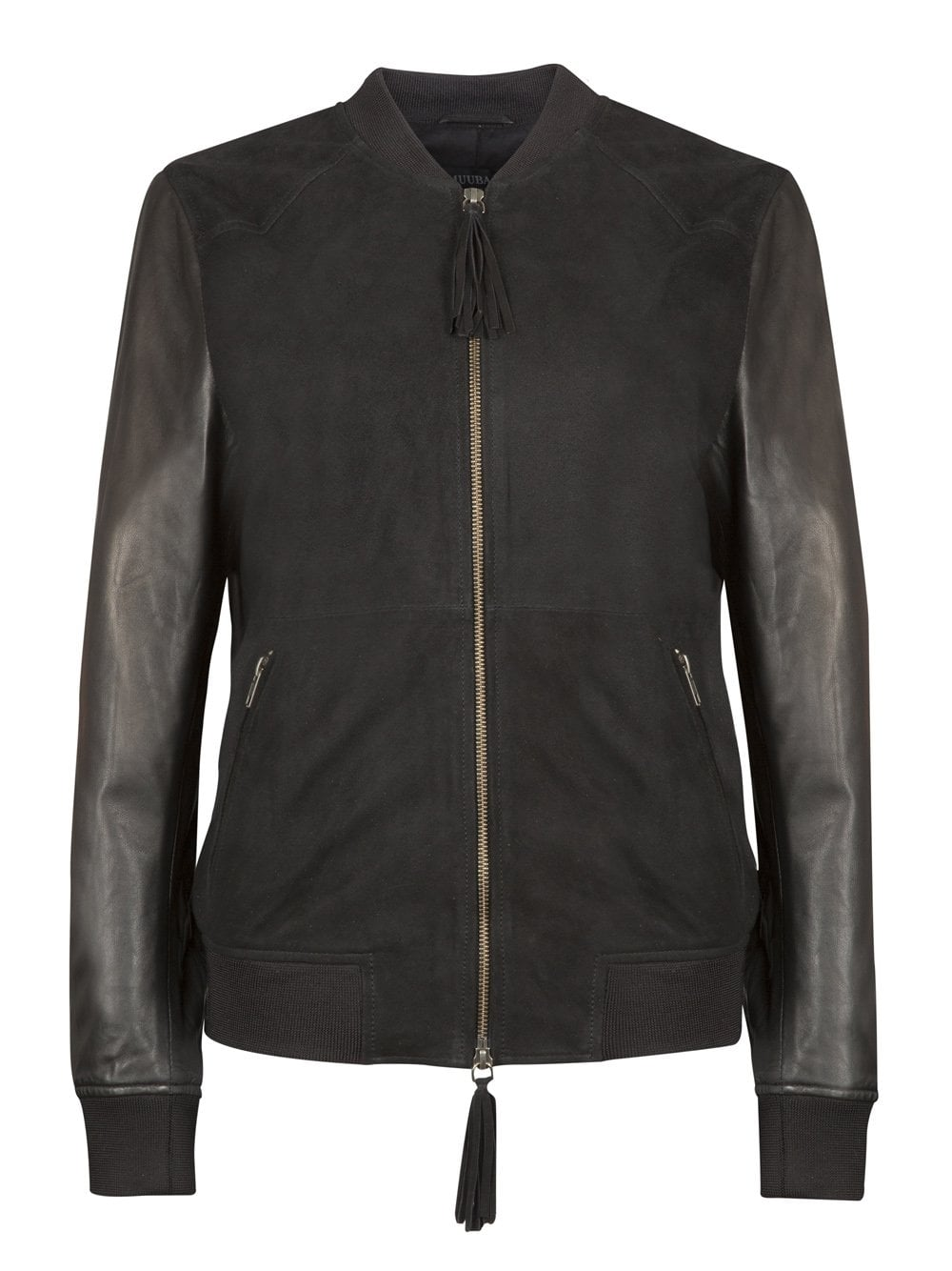 Suede and leather jacket