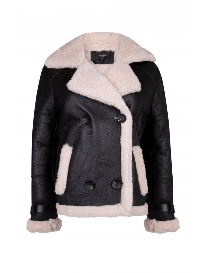Leather Finish Shearling