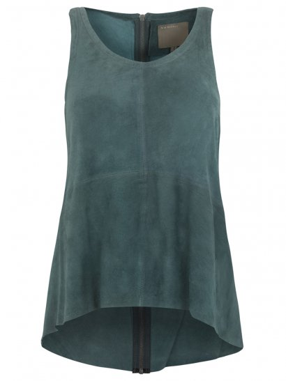 Mimosa Suede Vest in Teal