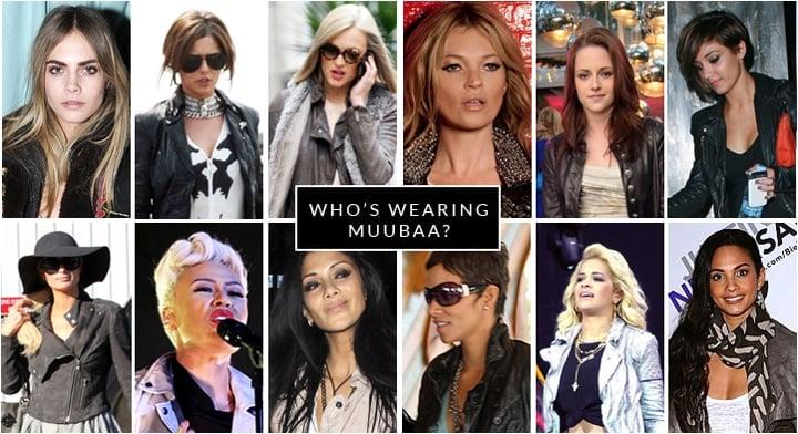 Celebrities wearing Muubaa