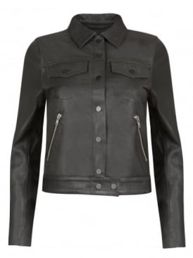 Morton Black Leather Jacket