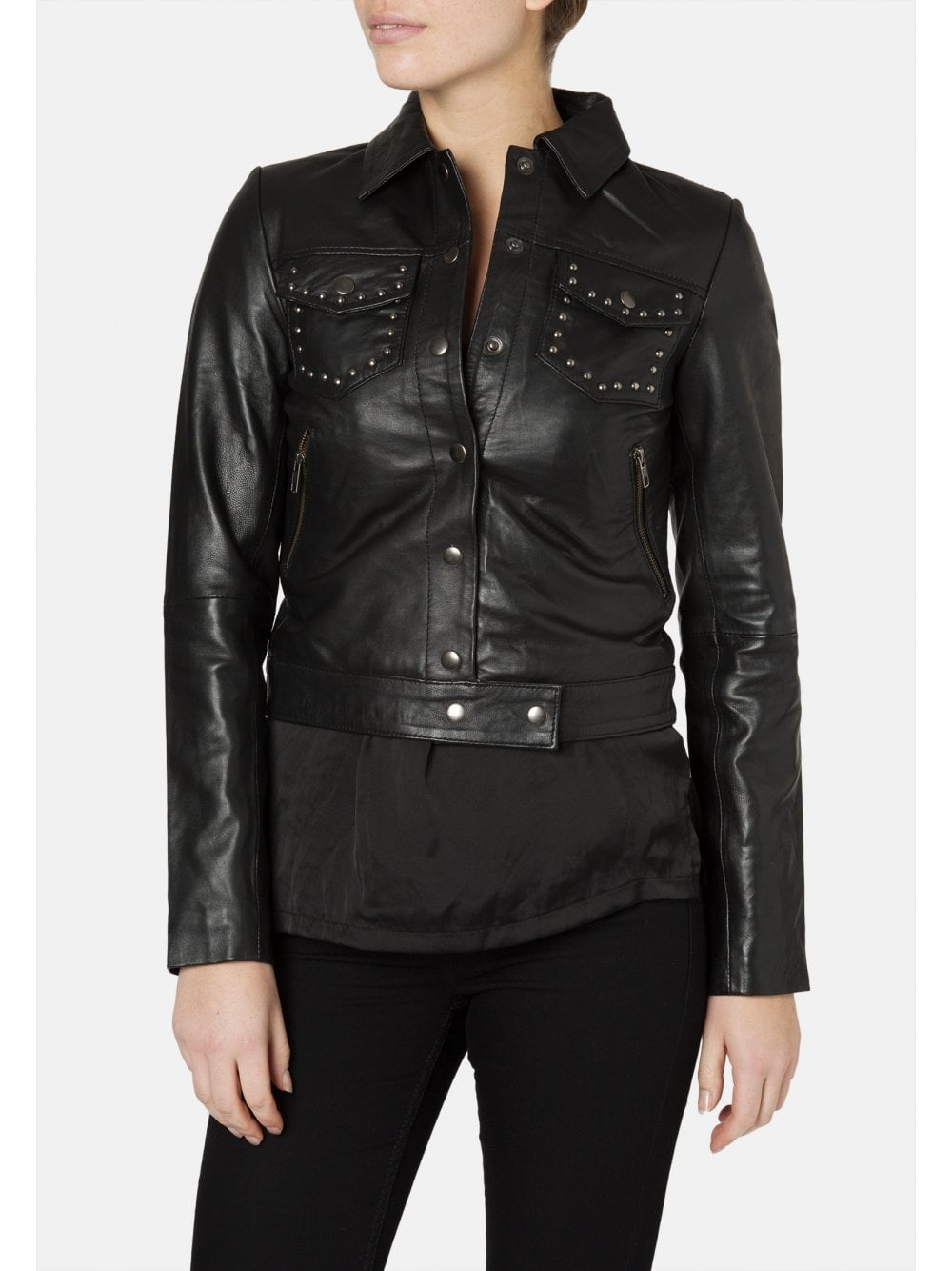 ae2611d550a0 Morton Western Studded Leather Jacket - SHOP WOMEN from Muubaa UK