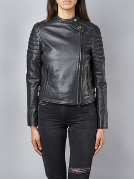 Murree Black Biker Leather Jacket