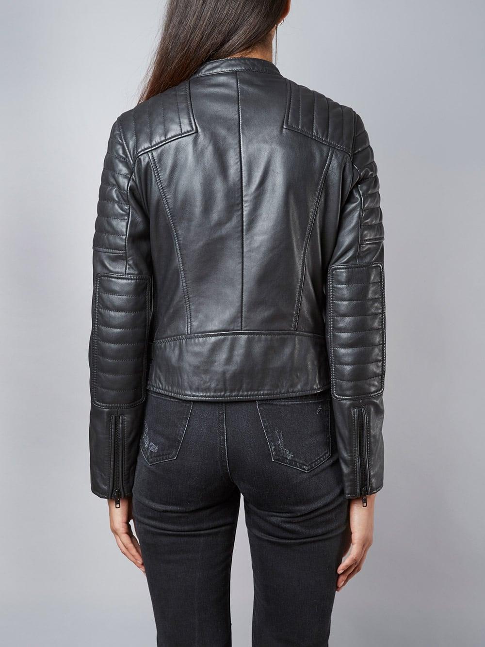 fc693549f Murree Black Biker Leather Jacket