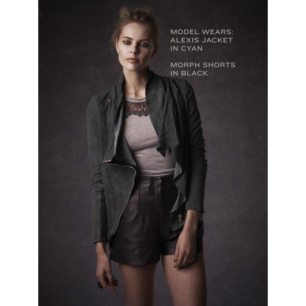 drape stylish faux drapes front size draped women hadari clothing suede womens jacket product open s shoes plus