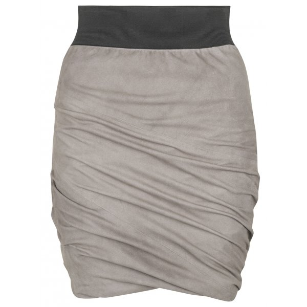 Suede Skirt in Sparkling Grey