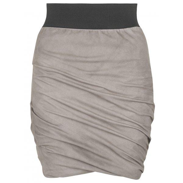 Suede Skirt in Sparkling Grey