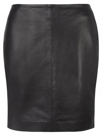 Dani Leather Pencil Skirt in Black