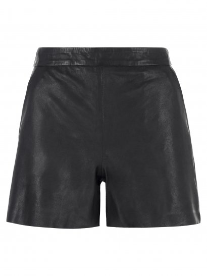 Emu Leather Shorts in Black