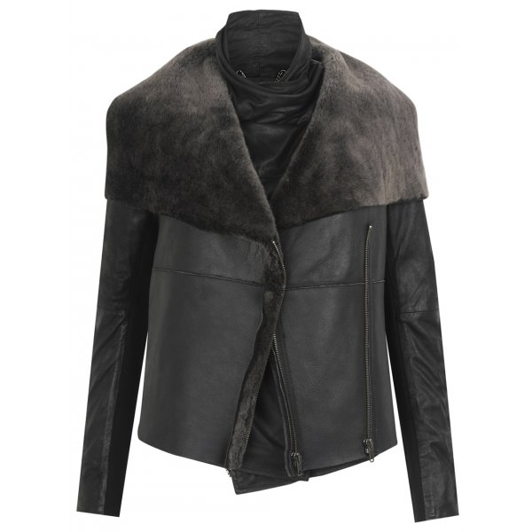 Shearling Jacket in Black