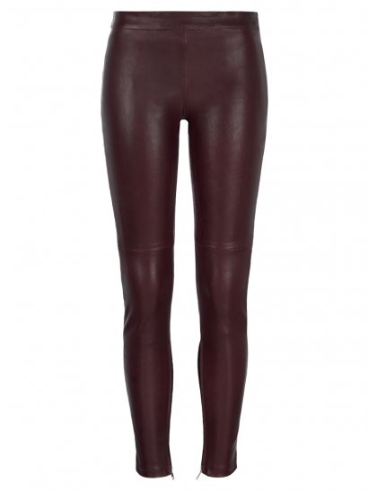 Rica Stretch Leather Leggings in Red