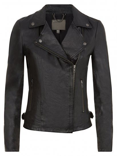 Rosario Black Leather Biker Jacket