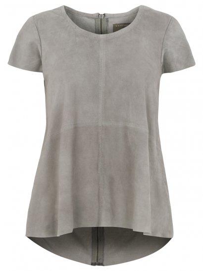 Sean Suede T-Shirt in Mist