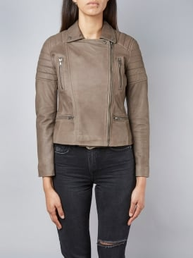 Nuthatch Mink Biker Leather Jacket
