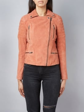 Nuthatch Walnut Suede Biker Jacket