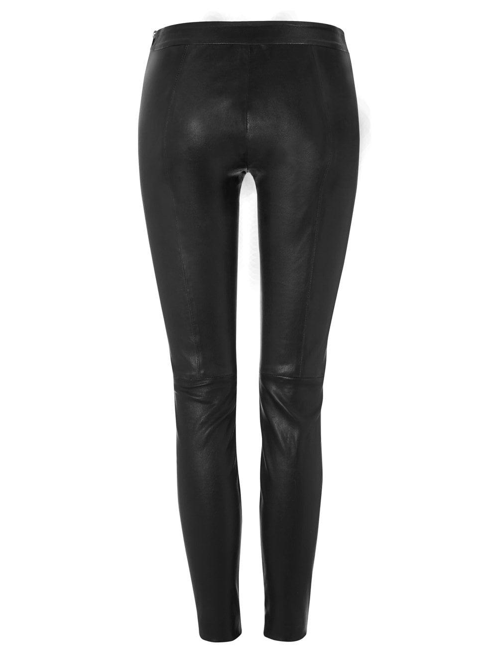 Palawa Black Stretch Leather Leggings