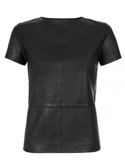 Penna Black Leather T-Shirt