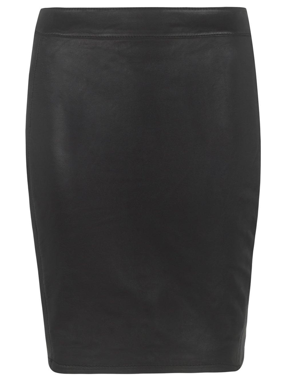 4a4a02209 Muubaa Persei Leather Skirt in Black
