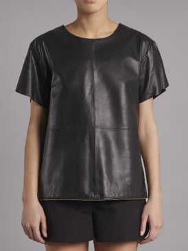 Piper Black Leather T-shirt