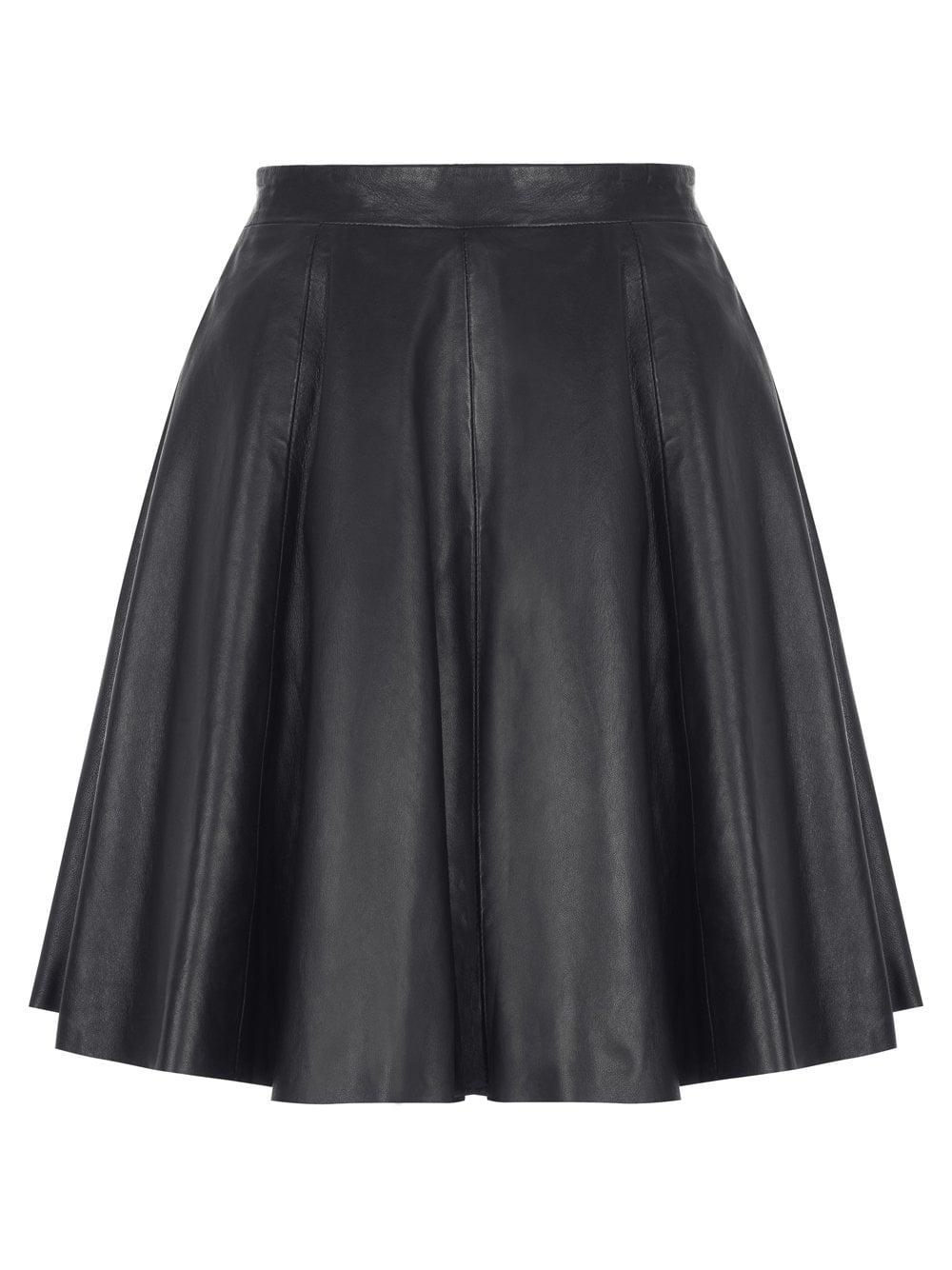 skater leather skirt dress ala