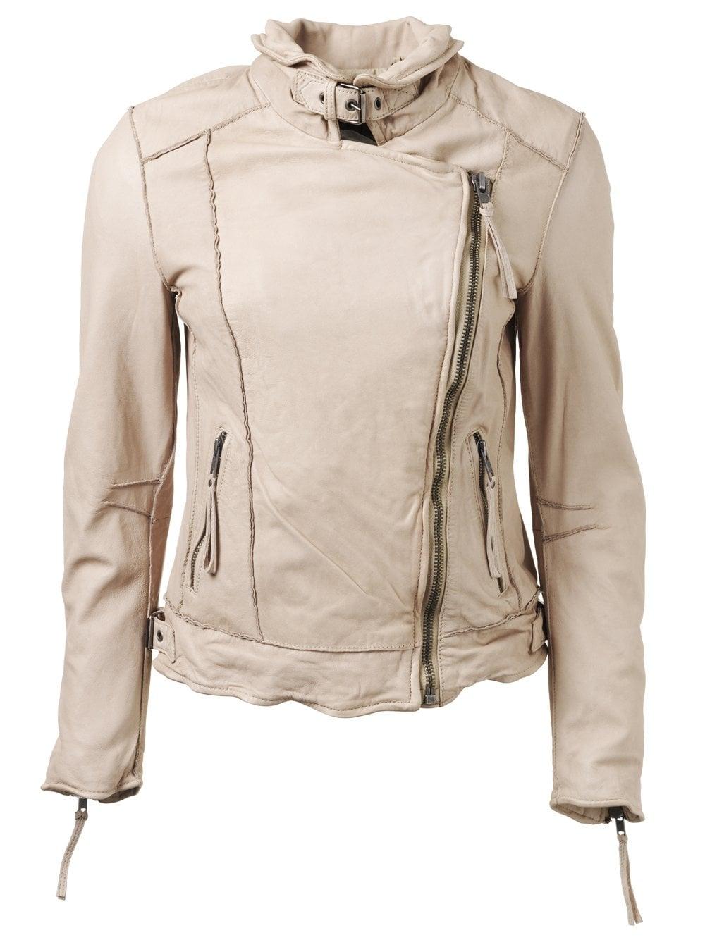Summer leather motorcycle jacket