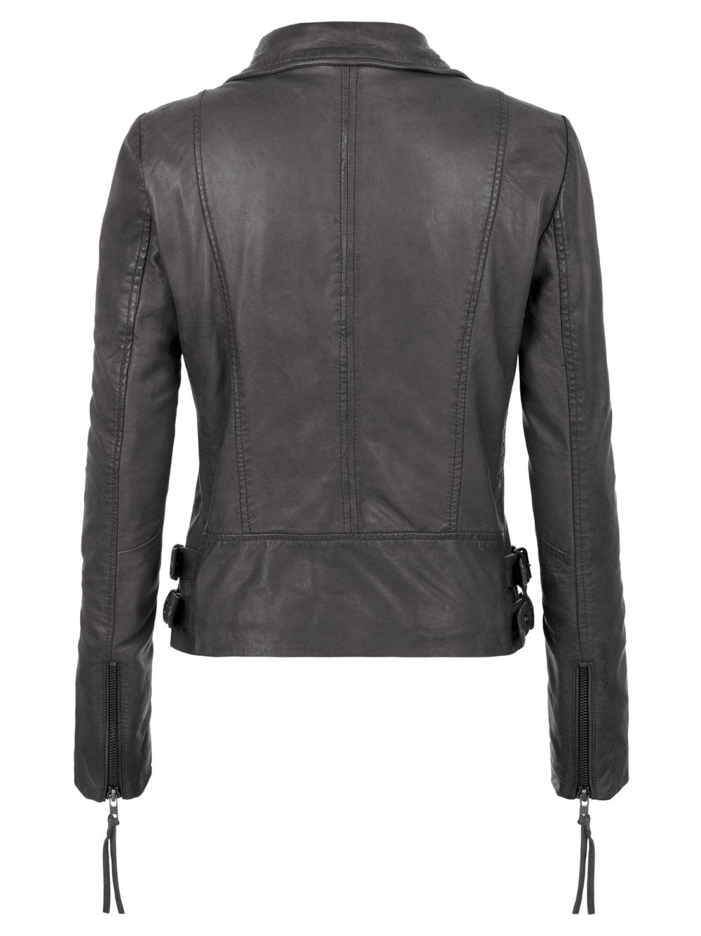 This exquisite and beautiful biker quilted grey leather jacket womens is kind of a feminist one. The best leather product a woman can need. With durable material known as Nappa sheepskin. Featuring zipper pockets and zip closure.