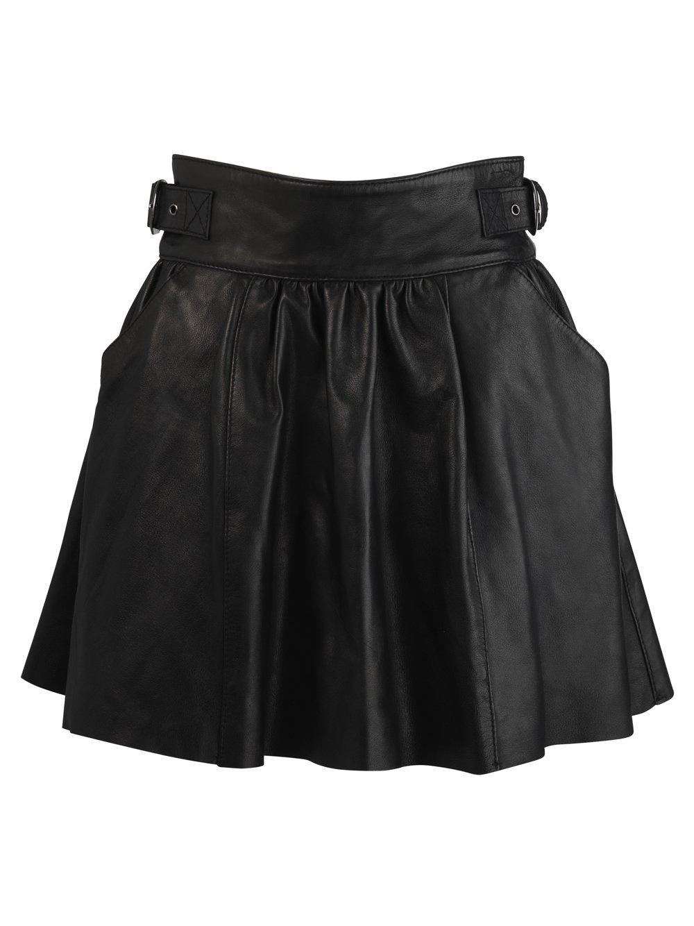 dahlia leather skirt in black muubaa from muubaa uk