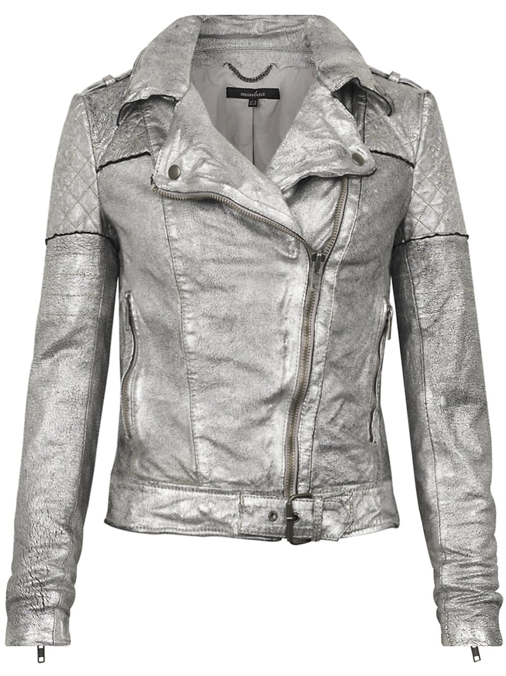Silver leather jackets