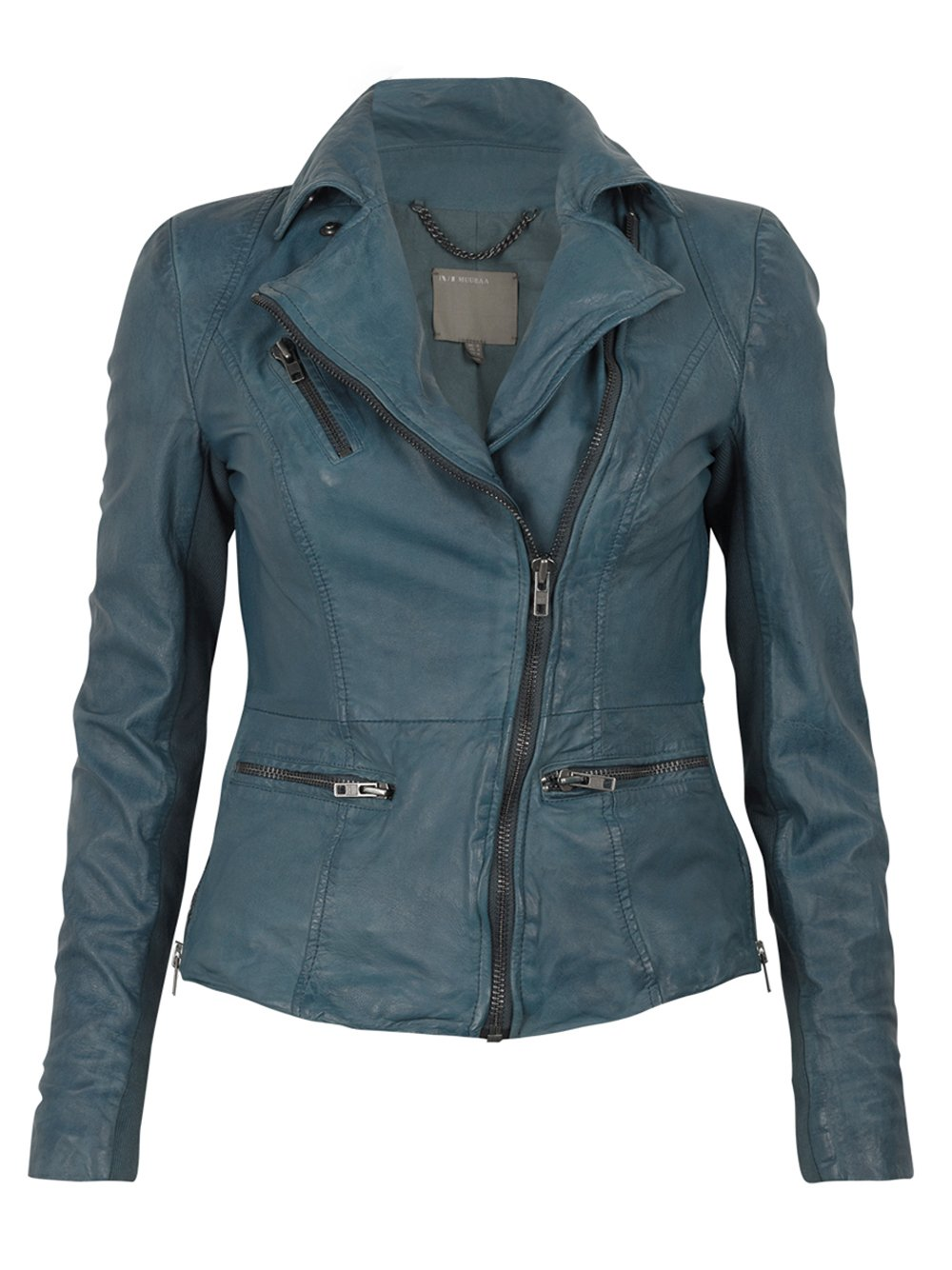 Teal leather jacket